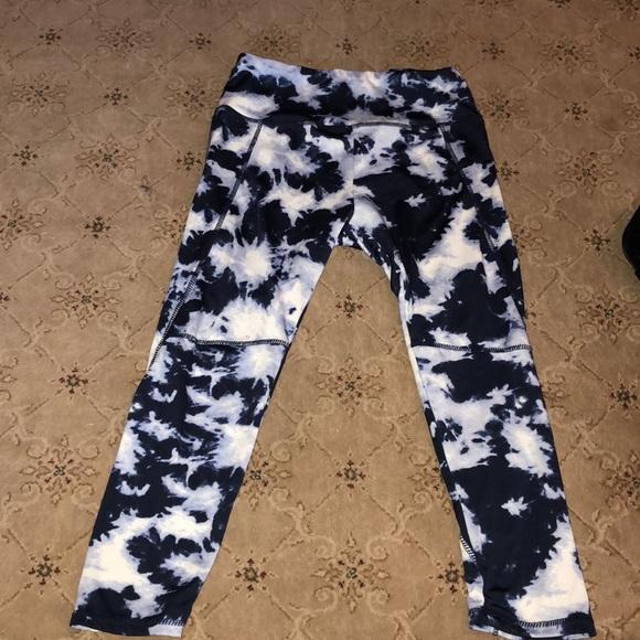Cotton On Pants Blue And White Tie Dye Leggings Poshmark